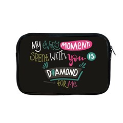 My Every Moment Spent With You Is Diamond To Me / Diamonds Hearts Lips Pattern (black) Apple Macbook Pro 13  Zipper Case by FashionFling