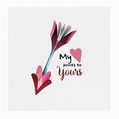 My Heart Points To Yours / Pink And Blue Cupid s Arrows (white) Medium Glasses Cloth (2 Side) by FashionFling