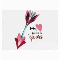 My Heart Points To Yours / Pink And Blue Cupid s Arrows (white) Large Glasses Cloth (2 Side) by FashionFling