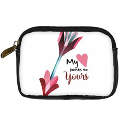 My Heart Points To Yours / Pink And Blue Cupid s Arrows (white) Digital Camera Cases by FashionFling