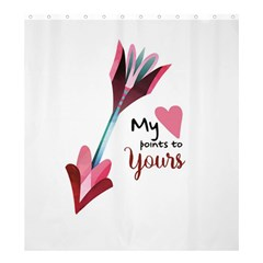 My Heart Points To Yours / Pink And Blue Cupid s Arrows (white) Shower Curtain 66  X 72  (large)  by FashionFling