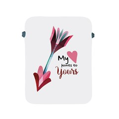 My Heart Points To Yours / Pink And Blue Cupid s Arrows (white) Apple Ipad 2/3/4 Protective Soft Cases by FashionFling