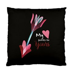 My Heart Points To Yours / Pink And Blue Cupid s Arrows (black) Standard Cushion Case (one Side) by FashionFling