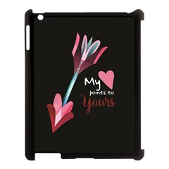 My Heart Points To Yours / Pink And Blue Cupid s Arrows (black) Apple Ipad 3/4 Case (black) by FashionFling