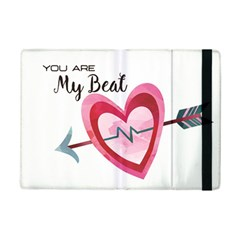 You Are My Beat / Pink And Teal Hearts Pattern (white)  Ipad Mini 2 Flip Cases by FashionFling