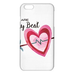 You Are My Beat / Pink And Teal Hearts Pattern (white)  Iphone 6 Plus/6s Plus Tpu Case by FashionFling