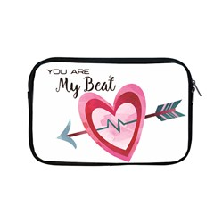 You Are My Beat / Pink And Teal Hearts Pattern (white)  Apple Macbook Pro 13  Zipper Case by FashionFling