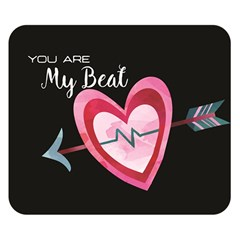 You Are My Beat / Pink And Teal Hearts Pattern (black)  Double Sided Flano Blanket (small)  by FashionFling