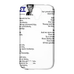 Kennedy Poem Samsung Galaxy S4 Classic Hardshell Case (pc+silicone) by athenastemple