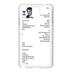 Kennedy Poem Samsung Galaxy Note 3 N9005 Case (white) by athenastemple