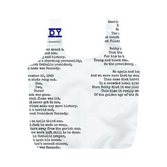 Kennedy Poem Full Print Recycle Bags (m)  by athenastemple