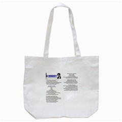 Kennedy Poem Tote Bag (white) by athenastemple