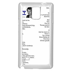 Kennedy Poem Samsung Galaxy Note 4 Case (white) by athenastemple