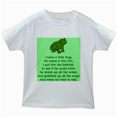 Little Frog Poem Kids White T Shirts by athenastemple