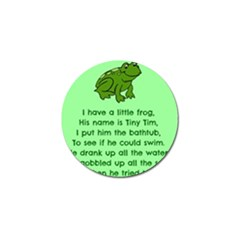 Little Frog Poem Golf Ball Marker (4 Pack) by athenastemple