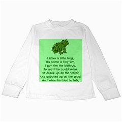 Little Frog Poem Kids Long Sleeve T Shirts by athenastemple