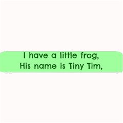 Little Frog Poem Small Bar Mats by athenastemple