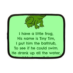 Little Frog Poem Netbook Case (small)  by athenastemple
