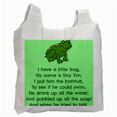 Little Frog Poem Recycle Bag (one Side) by athenastemple