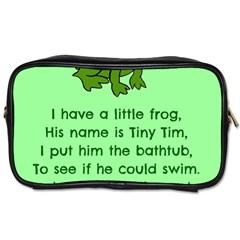 Little Frog Poem Toiletries Bags 2 Side by athenastemple