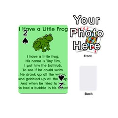 Little Frog Poem Playing Cards 54 (mini)  by athenastemple
