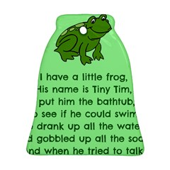 Little Frog Poem Ornament (bell) by athenastemple