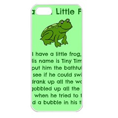 Little Frog Poem Apple Iphone 5 Seamless Case (white) by athenastemple