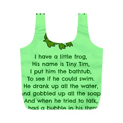 Little Frog Poem Full Print Recycle Bags (m)  by athenastemple