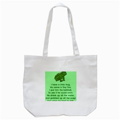Little Frog Poem Tote Bag (white) by athenastemple