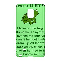 Little Frog Poem Galaxy Note Edge by athenastemple