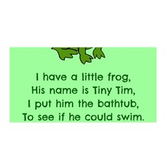 Little Frog Poem Satin Wrap by athenastemple