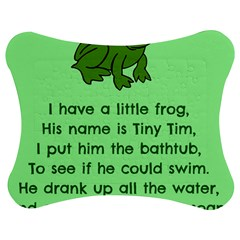 Little Frog Poem Jigsaw Puzzle Photo Stand (bow) by athenastemple