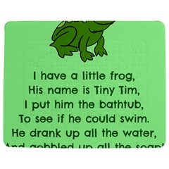 Little Frog Poem Jigsaw Puzzle Photo Stand (rectangular) by athenastemple