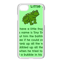 Little Frog Poem Apple Iphone 7 Seamless Case (white) by athenastemple