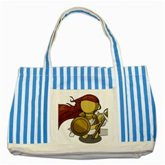 Athena Striped Blue Tote Bag by athenastemple
