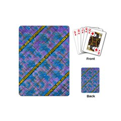 A  Golden Starry Gift I Have Playing Cards (mini)  by pepitasart