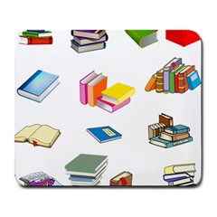 Bookworm Pattern Large Mousepads by athenastemple