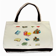 Bookworm Pattern Basic Tote Bag by athenastemple