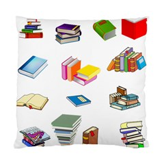 Bookworm Pattern Standard Cushion Case (two Sides) by athenastemple