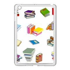 Bookworm Pattern Apple Ipad Mini Case (white) by athenastemple