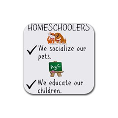 Homeschoolers Socialize Rubber Coaster (square)  by athenastemple