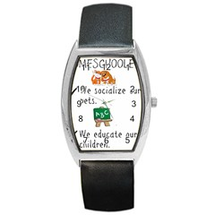 Homeschoolers Socialize Barrel Style Metal Watch by athenastemple
