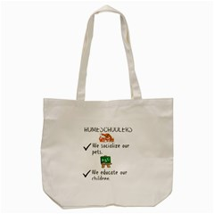 Homeschoolers Socialize Tote Bag (cream) by athenastemple