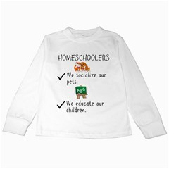 Homeschoolers Socialize Kids Long Sleeve T Shirts by athenastemple