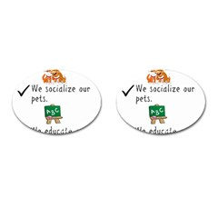 Homeschoolers Socialize Cufflinks (oval) by athenastemple