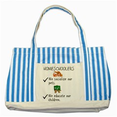 Homeschoolers Socialize Striped Blue Tote Bag by athenastemple