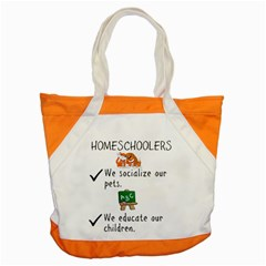 Homeschoolers Socialize Accent Tote Bag by athenastemple