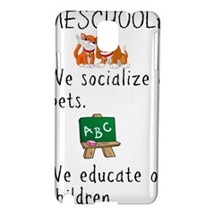 Homeschoolers Socialize Samsung Galaxy Note 3 N9005 Hardshell Case by athenastemple