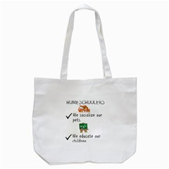 Homeschoolers Socialize Tote Bag (white) by athenastemple