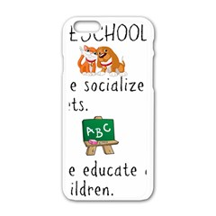 Homeschoolers Socialize Apple Iphone 6/6s White Enamel Case by athenastemple